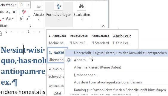 Microsoft Word - Adapt Heading1 stylesheet