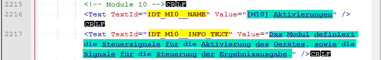PROFINET GSDML Datei - TextID-Value