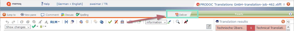 deliver files in memQWebTrans