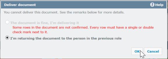 -pop-up after deliver customer review in memoQWebTrans